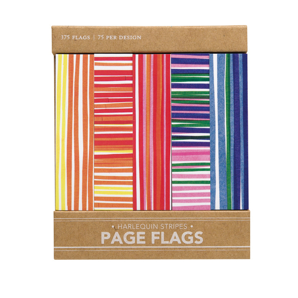 Harlequin Stripes Page Flags