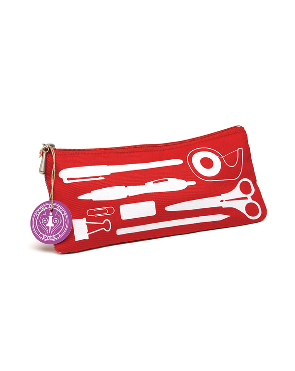 Candy Apple Pencil Pouch