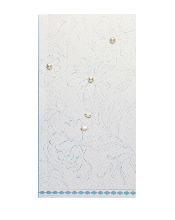 Pearlescent Handkerchief Booklet: Lace Sky