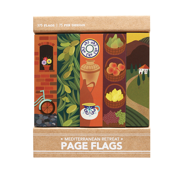 Mediterranean Retreat Page Flags
