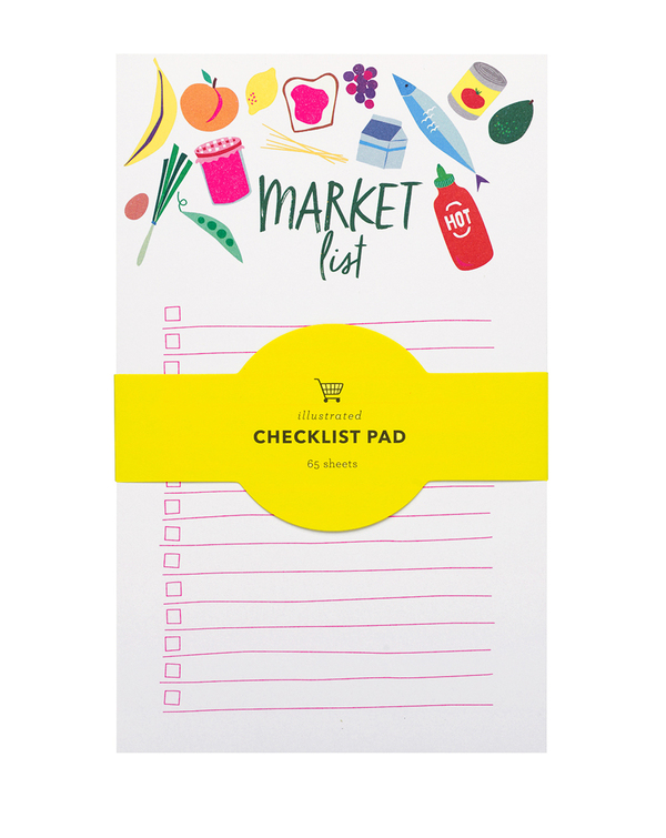 Market List To Do Neon Notepads