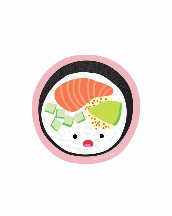 Sushi Roll Vinyl Sticker