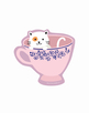 Cat Teacup Vinyl Sticker