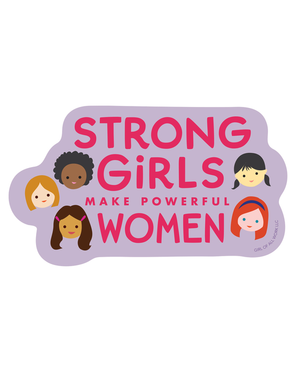 Girl Power Vinyl Stickers